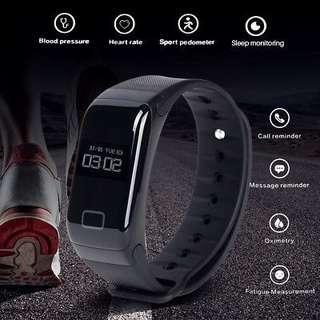 F1 Smart Band Blood Pressure Oxygen Heart Rate Monitor Fitness Sports Bracelet