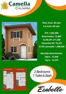 Affordable 2BR Single Unit House & Lot in Camella Calamba - Preselling Project, Complete Amenities