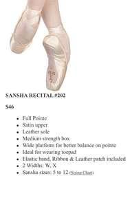 Sansha Ballet Pointe Shoes