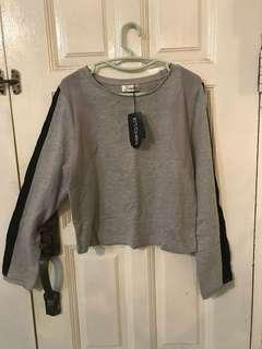 Grey Cotton Crop Top