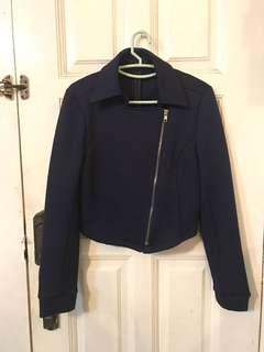 Nichii Crop Jacket Navy Blue Jacket