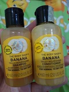 Body shop banana shampoo & condi