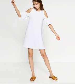 Zara cold shoulder dress