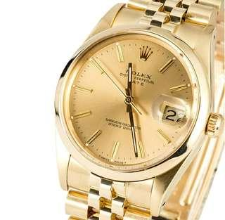 Rolex Date yellow gold 80s Vintage swiss watch