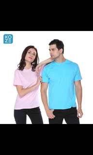 Kaos polos Fashion Pria Kaos oblong TShirt Trendy Baju Custome