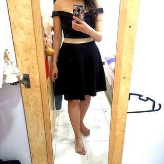 Off shoulder black dress (premium quality)