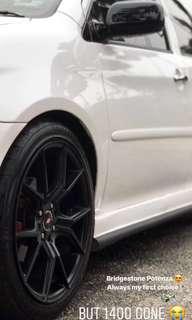 "17"" RIMS with Bridgestone Potenza 003 (Semi Performance Tyre)"