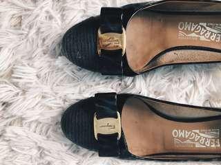 Authentic Ferragamo Ballet Shoe