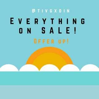 EVERYTHING ON SALE!