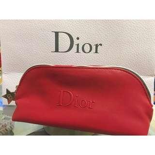 🚚 迪奧Dior紅色化妝包收納包筆袋