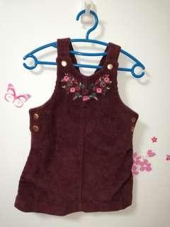 Jumper Skirt flower embroidery