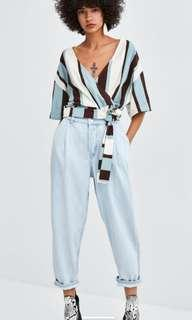 Zara denim pants (size 0)