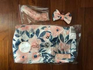 BNIP Jujube Whimsical Watercolours Be Quick + Bow + Rose Gold Chain Strap