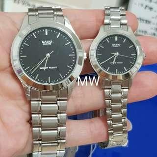 Casio original lover pair stainless steel watch brand new