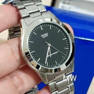 Casio original men analog stainless steel watch mtp-1128a brand new