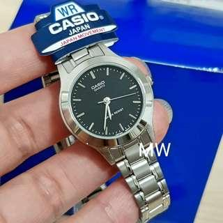 Casio original ladies classic stainless steel watch ltp-1128a brand new