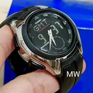 Casio original men resin quartz sports watch aq160w brand new