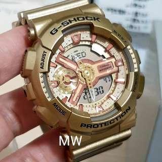 Casio original ladies g shock s series gma-s110gd watch brand new