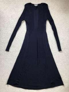 Brand new H&M navy long sleeve flare dress
