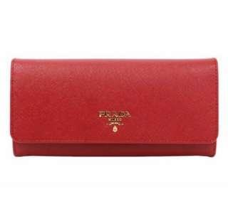Prada Saffiano Leather Long Wallet (Brand New)