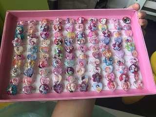 100 Disney Princess rings - mermaid/Elsa/frozen/Peppa/pony/snow white
