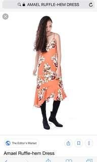 🚚 The Editor's Market Amael Ruffel-hem dress