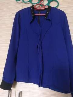 Blue purple top