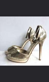 #JAAN25 Everbest heels sepatu hak tinggi gold branded