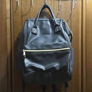 Anello Faux Leather Black Bag