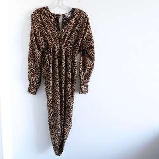 Jaase Australian boho brand leopard animal print dress XS S small