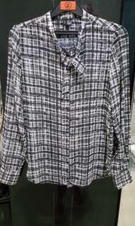 #JAN25 Mango black checker shirt