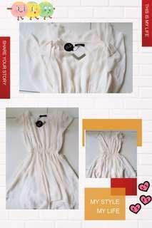 #Beige Chiffon Dress F9050 ##米白色雪纺裙