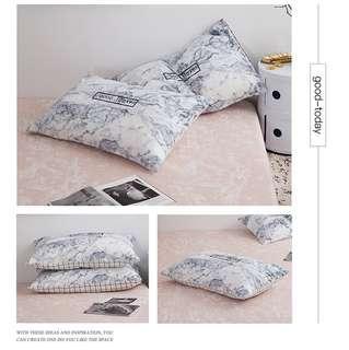 大理石紋 枕頭套2入