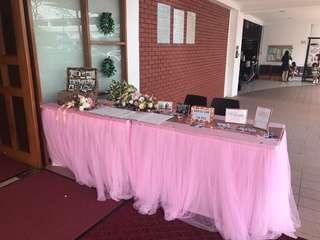 Pink Tulle Table Cloth for rental