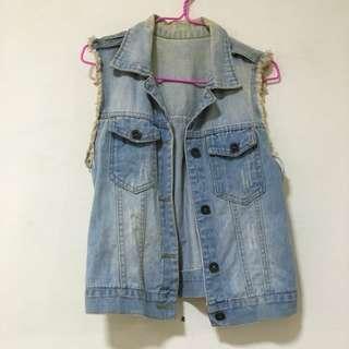 Jeans Vest Sleeveless