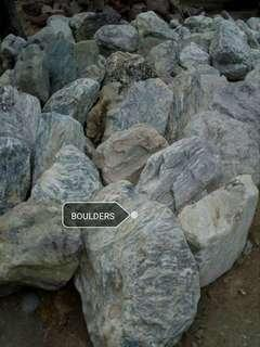 Boulders and stepstone