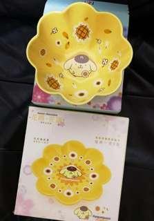 7-11印花Sanrio布甸狗全新碗碟一套