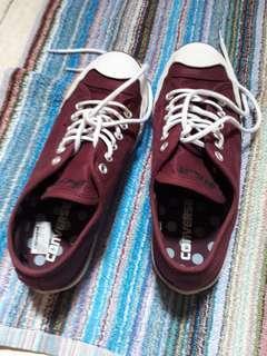 Sepatu Converse jack purcell maroon
