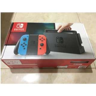 Bundled 11 Games Pre-Installed Nintendo Switch Neon  (Pre-Owned)