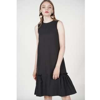 Juno Contrast Dress in Black