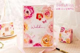 花花簽到簿 🎀 碎花 玫瑰 結婚 婚禮 簽到簿 簽名簿 結婚用品 bigday