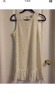 Juicy Couture Women's Spring Little White Lace Dress Size 6 Fully Lined
