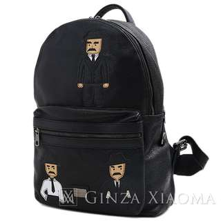 de2f11aa6a8 Dolce   Gabbana Sicilian Man Luc Leather Black Backpack 172516