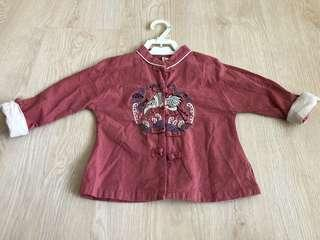 Boy traditional Long sleeve shirt for cny Chinese New Year