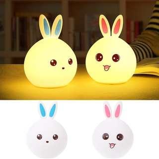 Cute Rabbit Multicolor Silicone Night Lamp [CR0024]