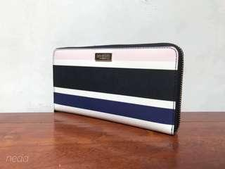 NEW Kate Spade striped wallet