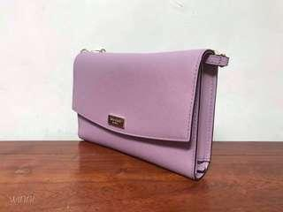 NEW Kate Spade lavender wallet with detachable sling