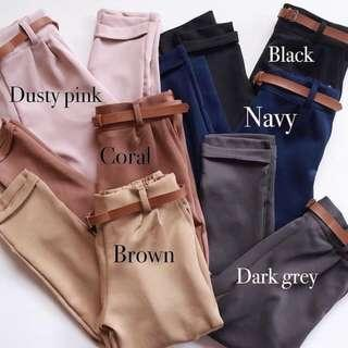 belt pants bershka