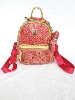 MCM backpack studded real leather