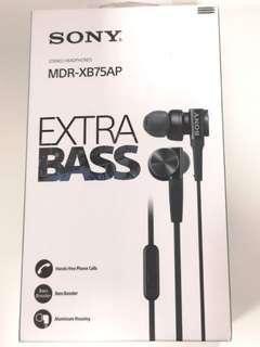 BNIP Sony EXTRA BASD In-Ear Headphones (Black)